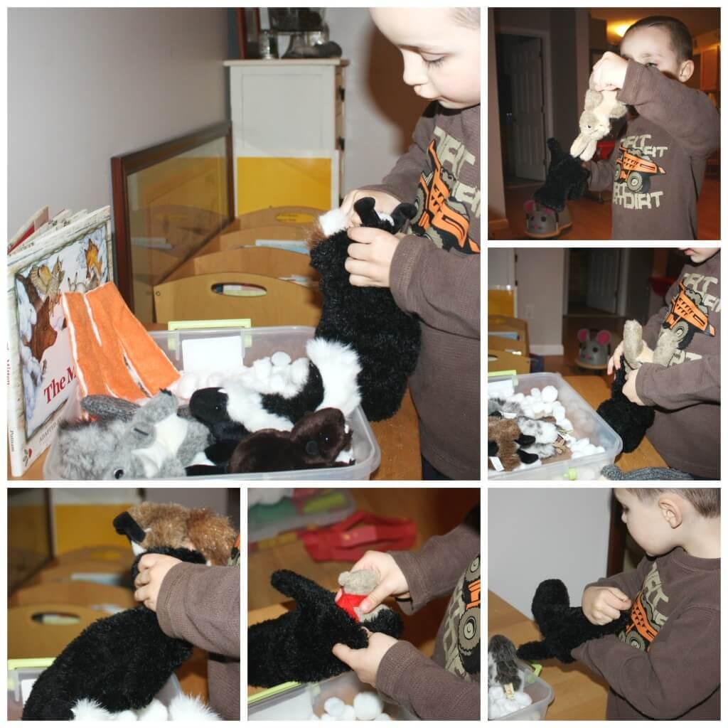 mitten book sensory fine motor play