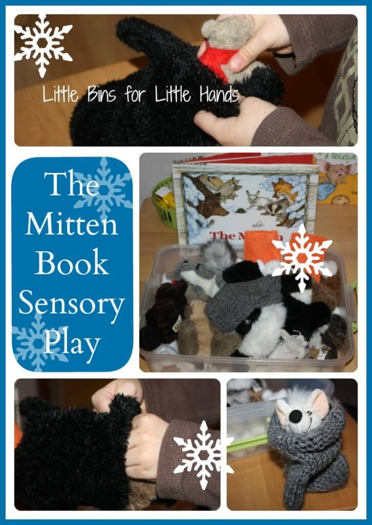 mitten book sensory play activity