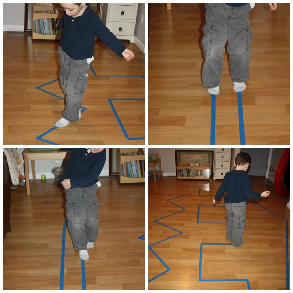 proprioceptive sensory line walking