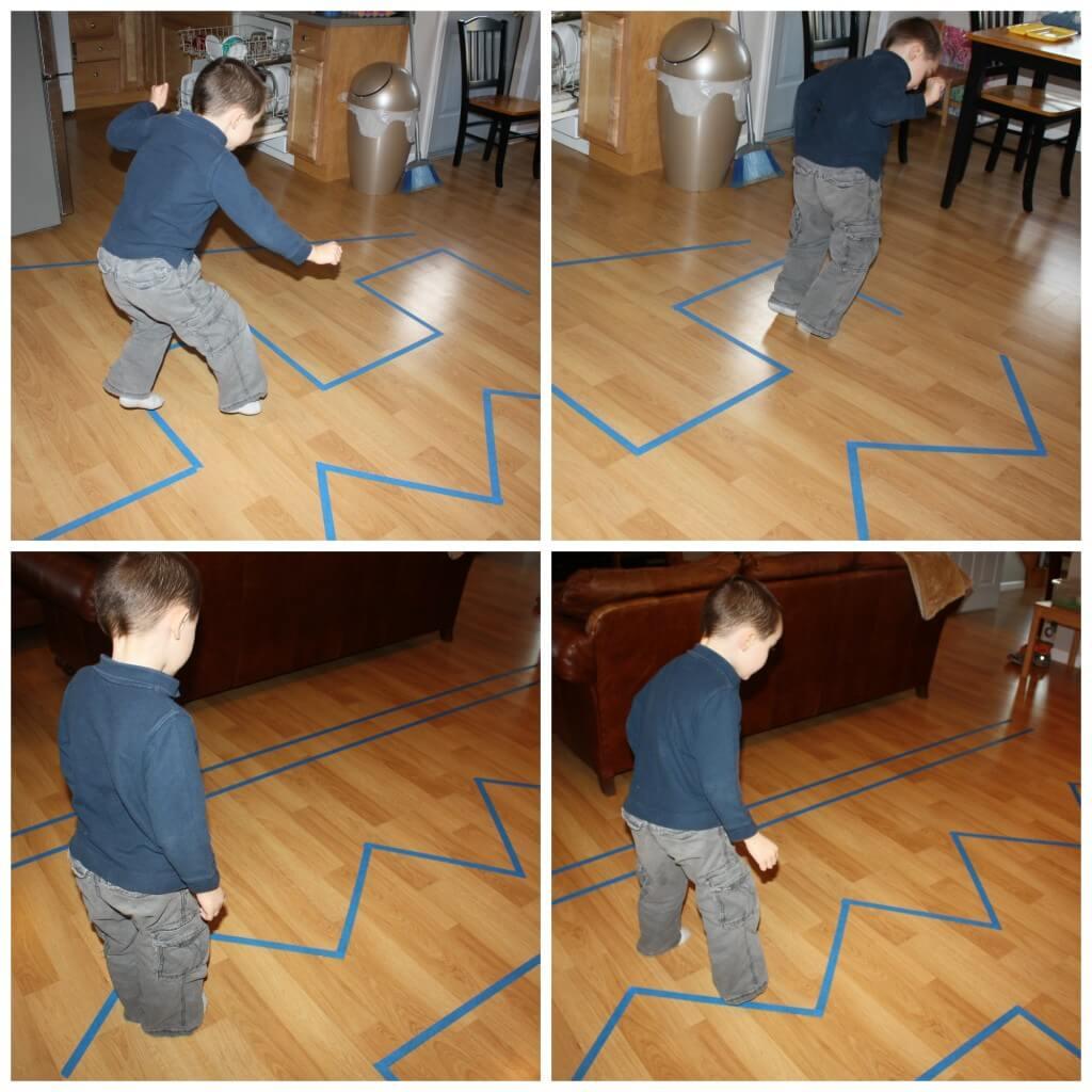 proprioceptive sensory seeking jumping lines