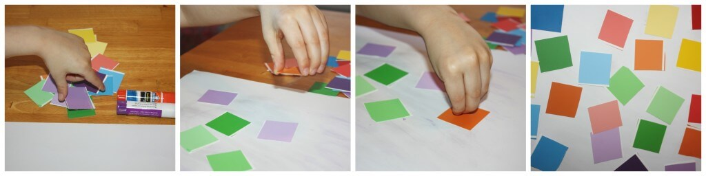 rainbow collage making
