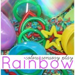 rainbows sensory bin colors sensory play