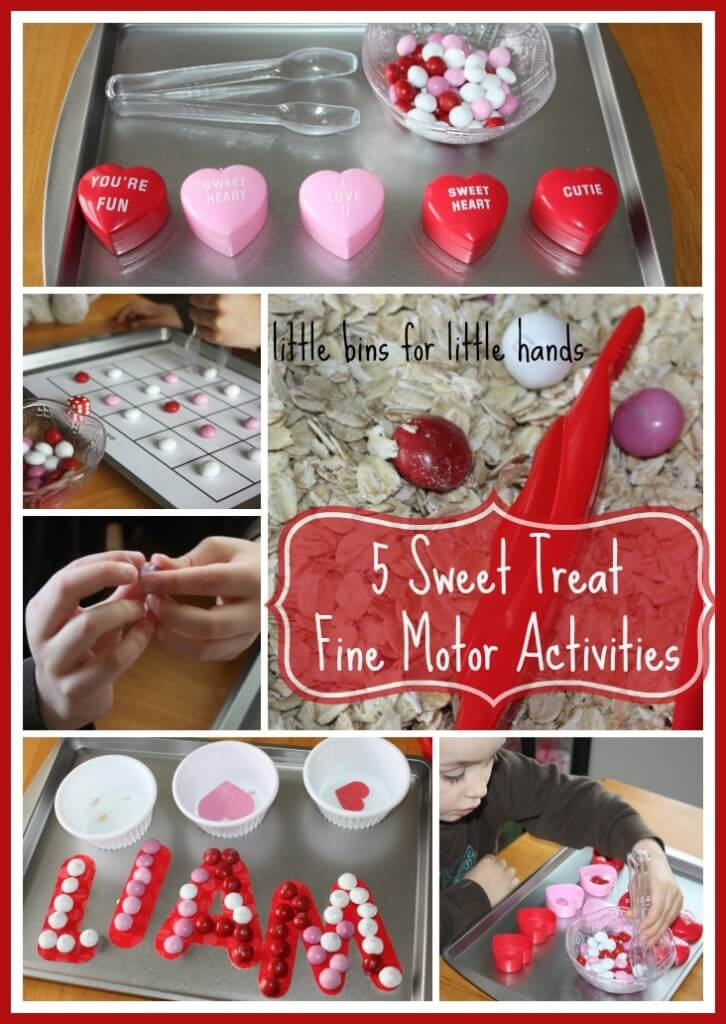 sweet treat fine motor activities