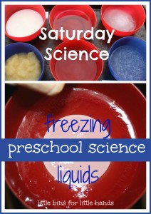 winter freezing liquids science experiment