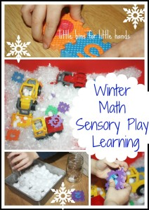 winter math sensory bin activity
