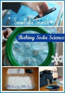 winter snowflake baking soda science