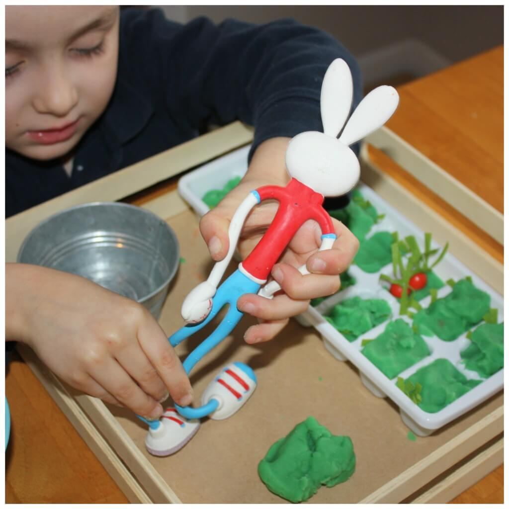 Bunny Carrot Sensory Play Pretend Play