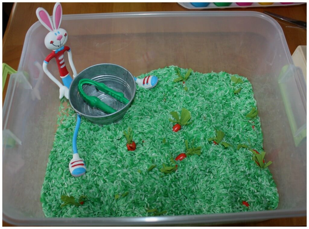 Bunny Carrots Search Sensory Bin