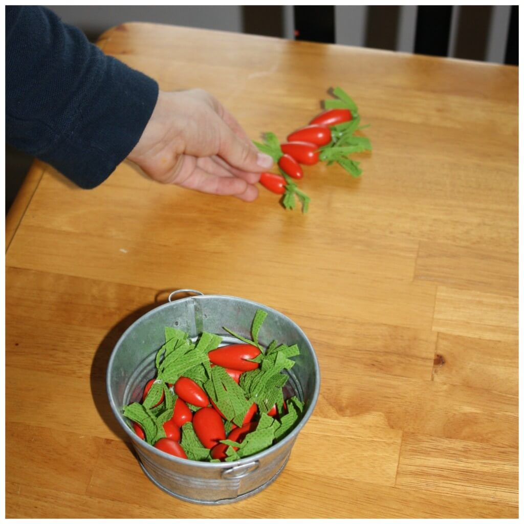 Bunny Carrots Sensory Bin Search Counting Carrots