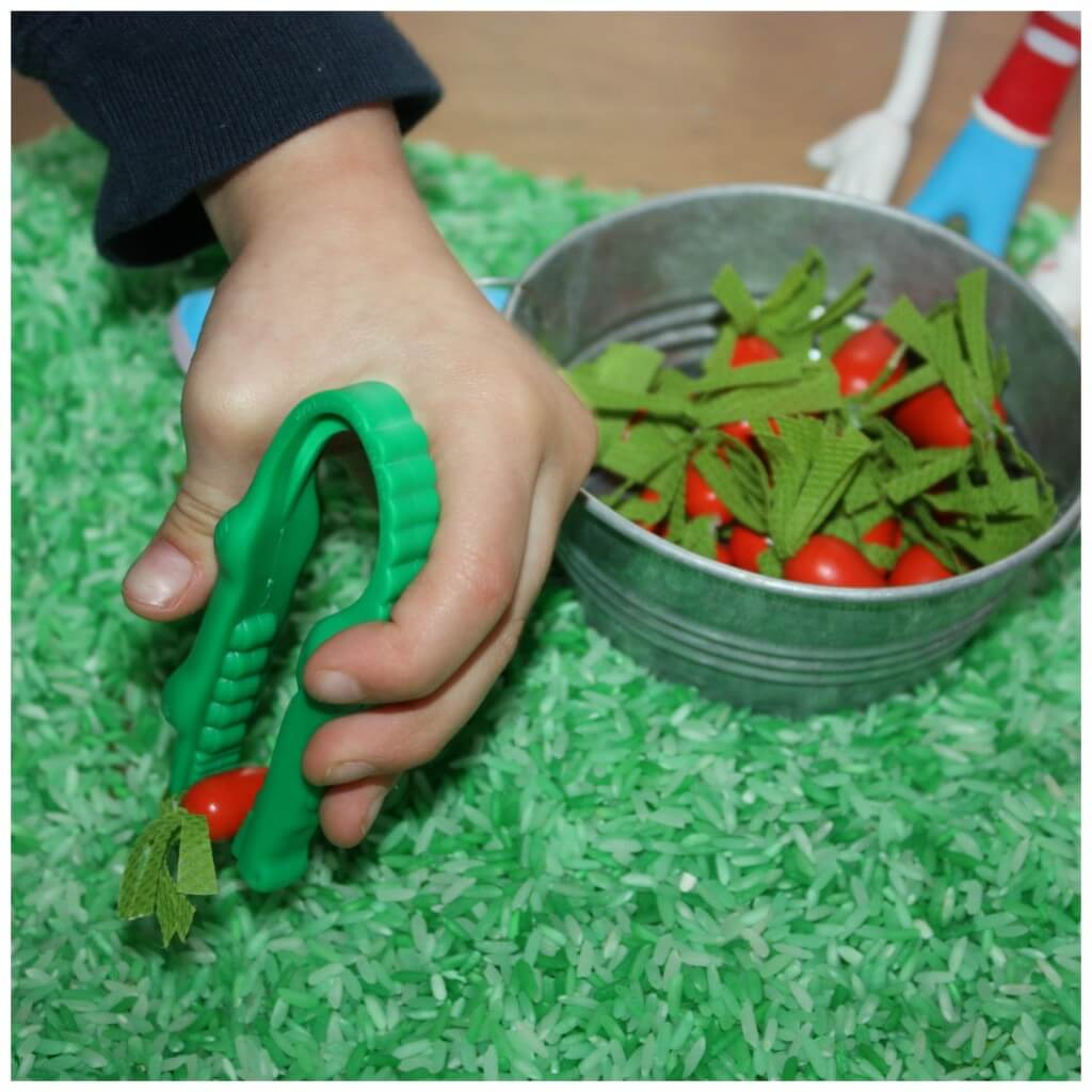Bunny Carrots Sensory Bin Search Tweezers