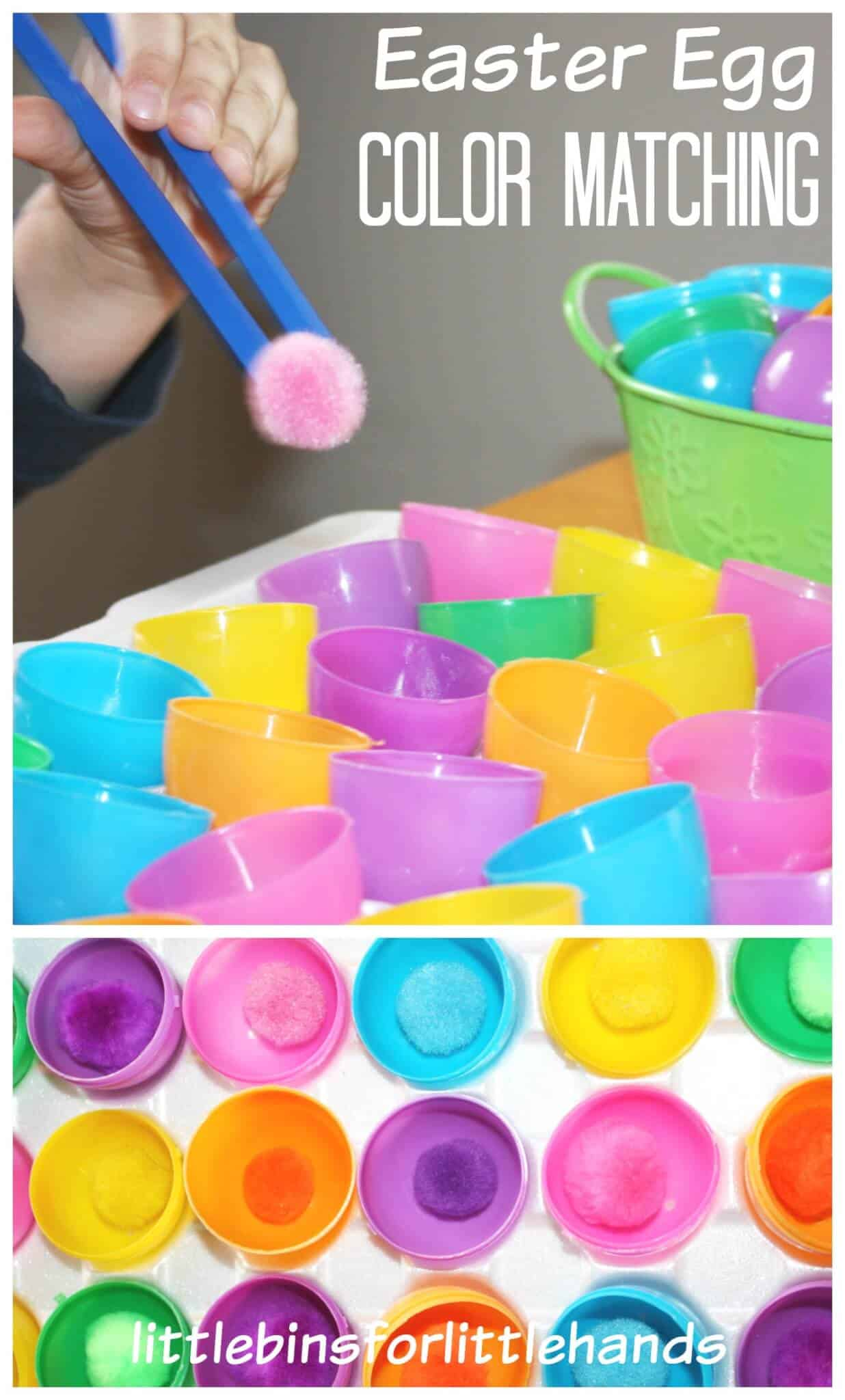 Easter fine motor activity color matching activity - What are the easter colors ...