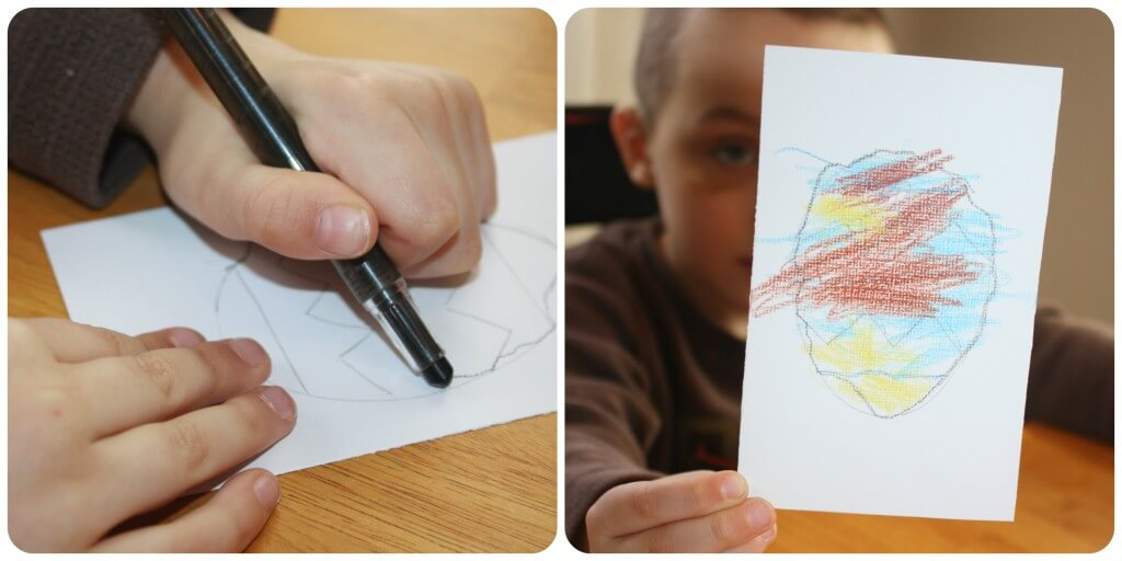 Easter Egg Fine Motor Activities Tracing Lines & Coloring