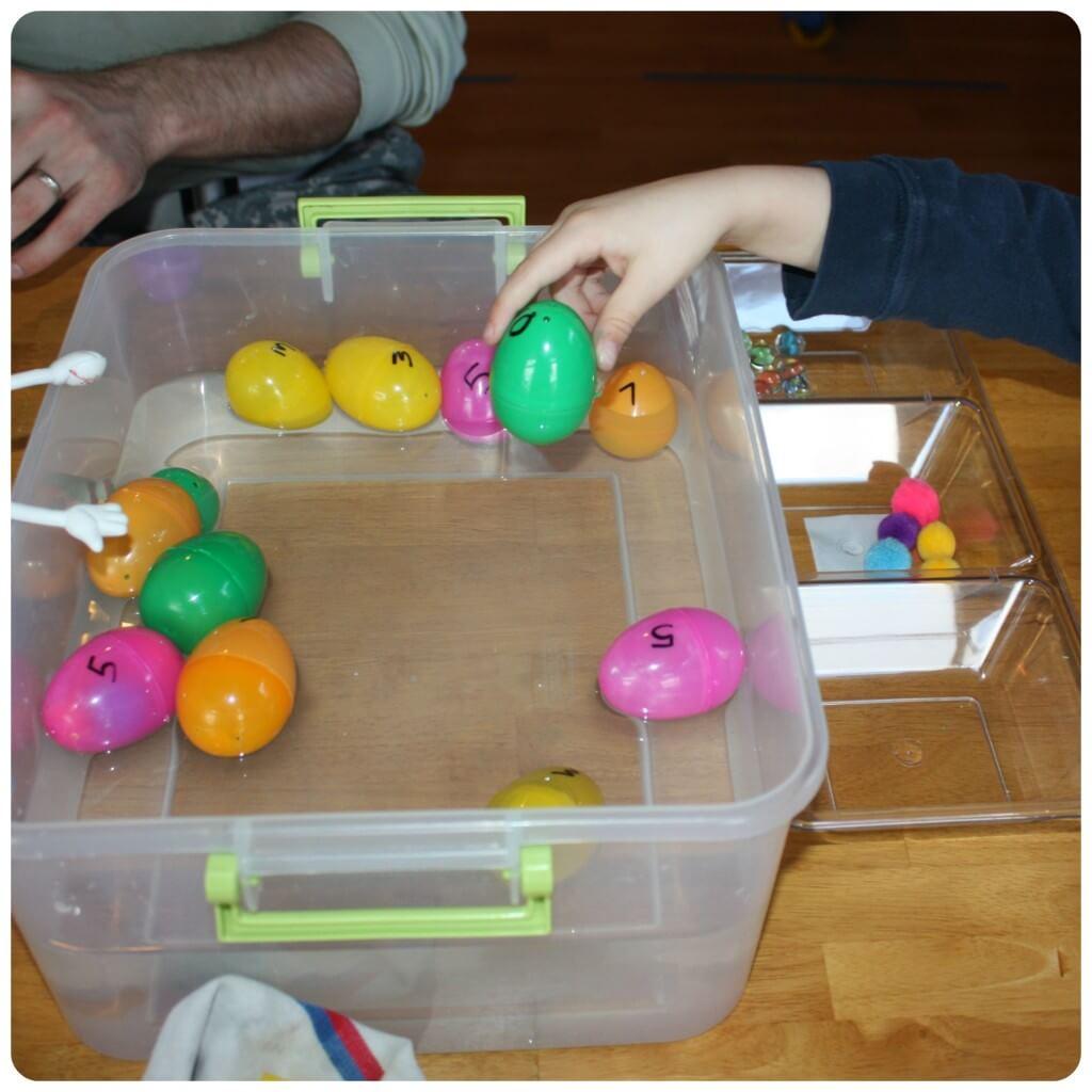 Easter Egg Science Sink Green Egg
