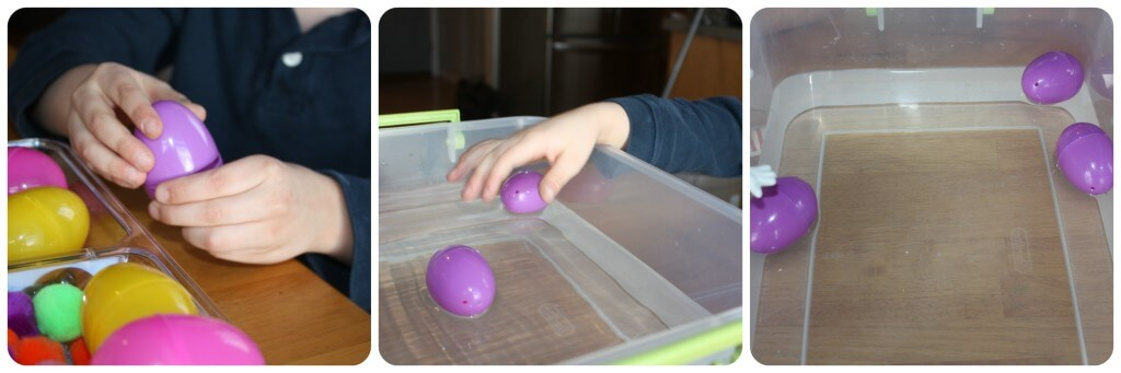 Easter Egg Sink Science Purple Egg