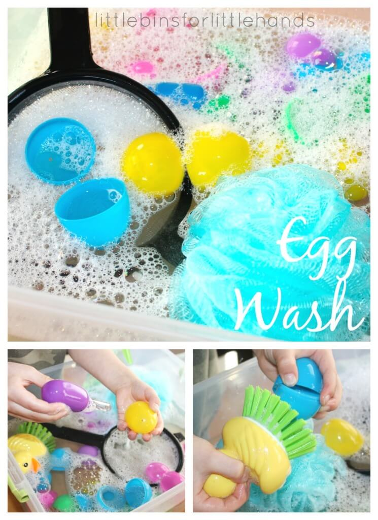 Easter Egg Was Water Sensory Play
