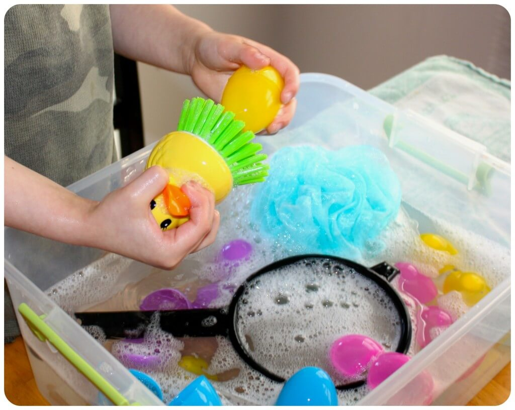 Easter Egg Washing Duck Scrubber