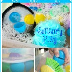 Easter Egg Washing Sensory Play