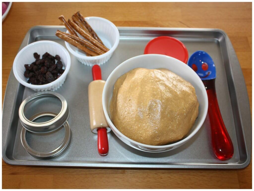 Edible Peanut Butter Play Dough Invitation