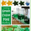 Exploring Colors Green Saturday Science Activity