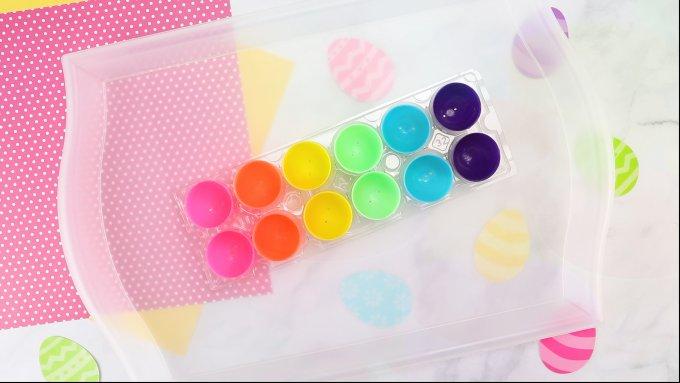 rainbow easter egg tray