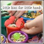 Little Bins For Little Hands