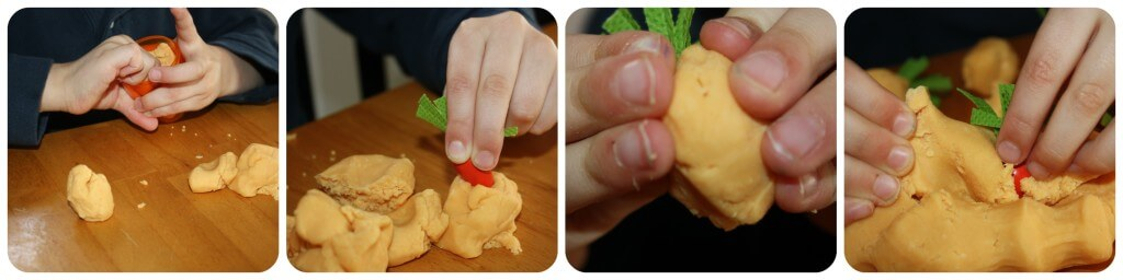 Spring Fine Motor Activity Carrot Play Dough