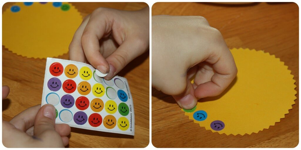 Spring Fine Motor Activity Stickers