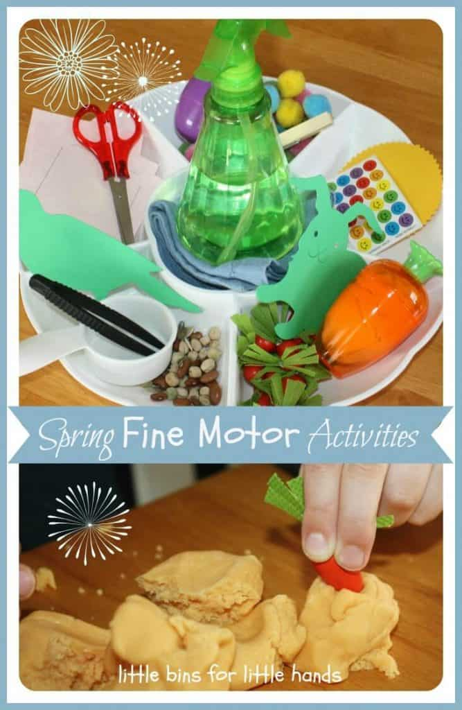 Spring Fine Motor Mini Activity Tray