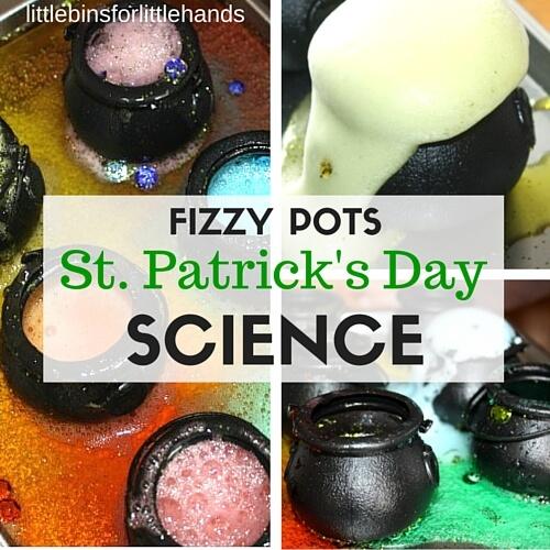 St Patricks Day Fizzing Pots Science STEM activity