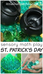 St Patricks Day Sensory Bin St Patricks Math Activity