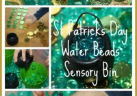 St Patricks Day Sensory Bin Water Beads & Counting Game Activity