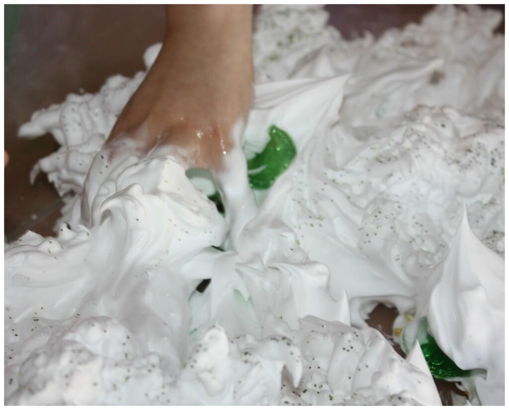 St Patricks Day Shaving Cream Hand in Bin