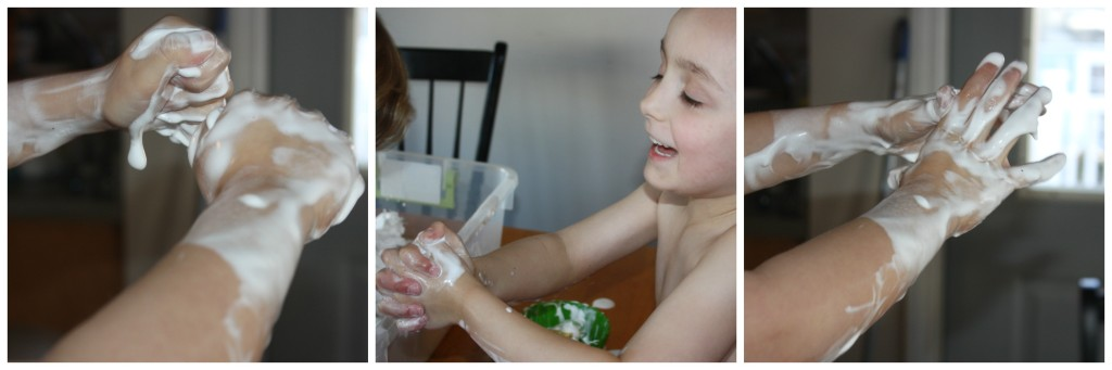 St Patricks Day Shaving Cream Hands