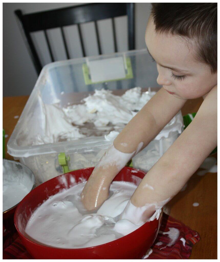 St Patricks Day Shaving Cream Hands in Bucket