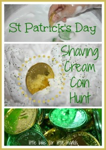 St Patricks Day Shaving Cream Playdate Activity