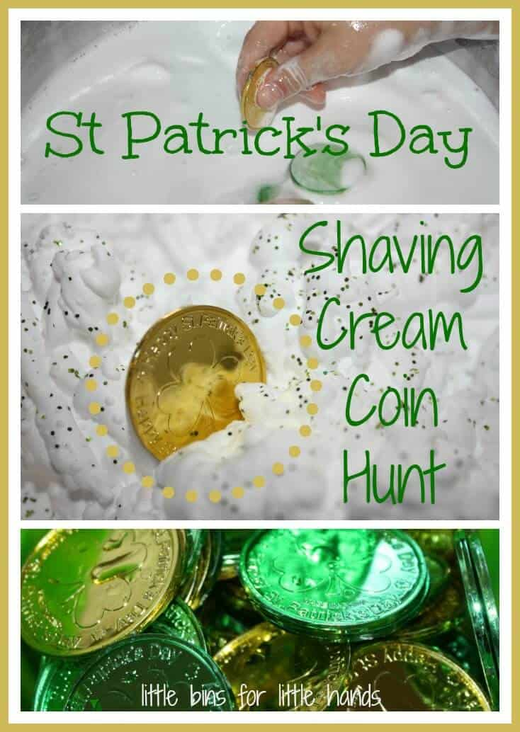 St Patricks Day Shaving Cream Sensory Play