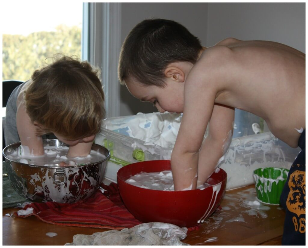 St Patricks Day Shaving Cream Sensory Play