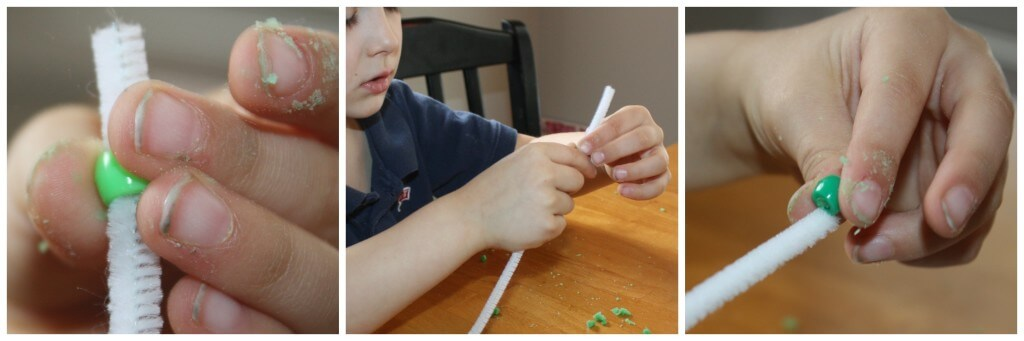 St Patricks Fine Motor Pipe Cleaner Beads
