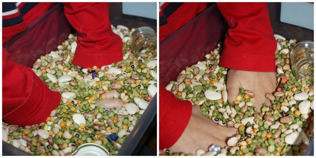 calming sensory bin hands feeling filler