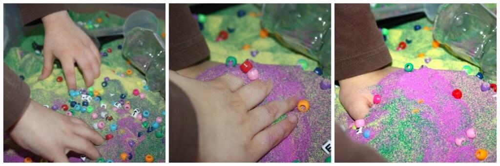 craft sand sensory bin filler hands on