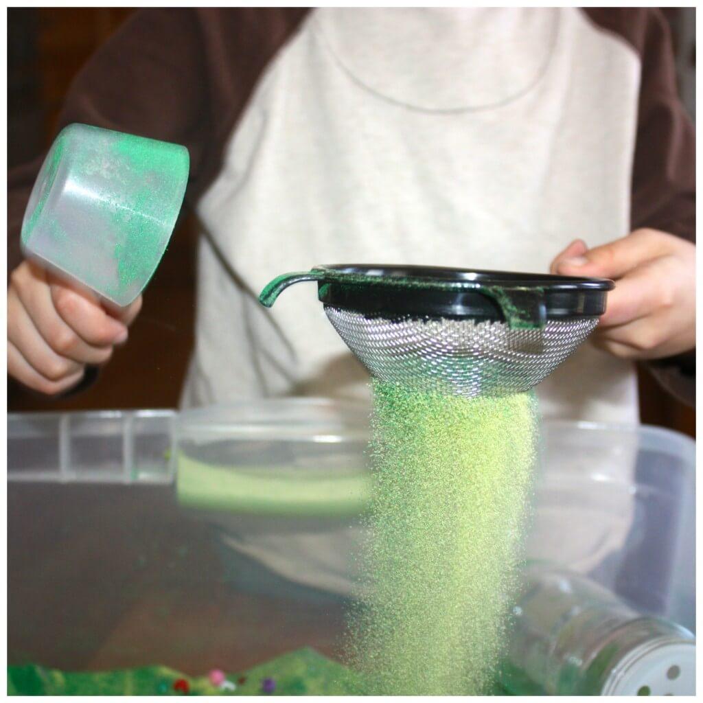 craft sand sensory bin filler strainer
