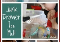 junk drawer ice melt science activity