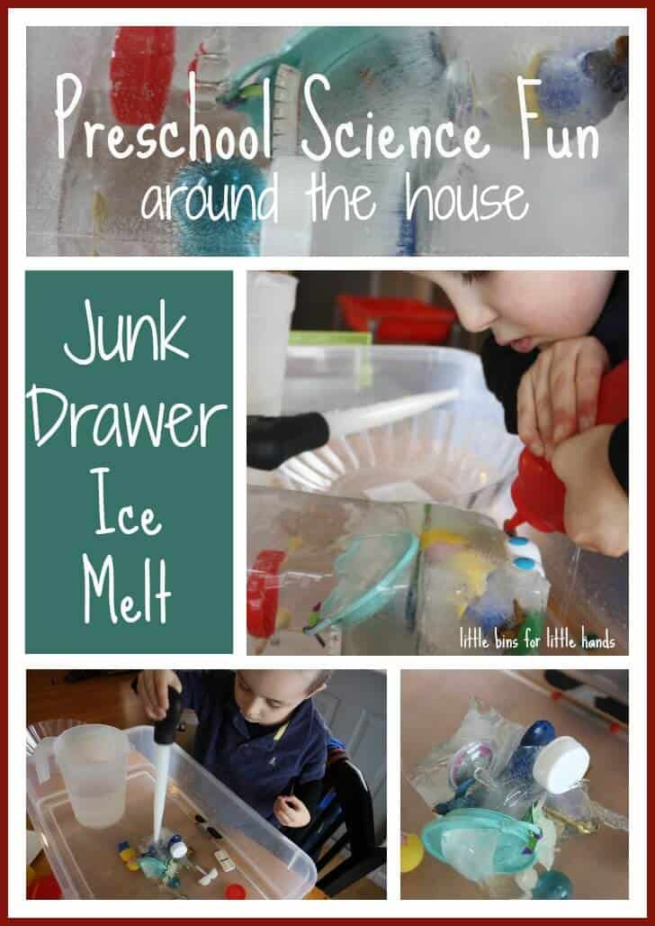 Junk Drawer Ice Science Experiment {Saturday Science}