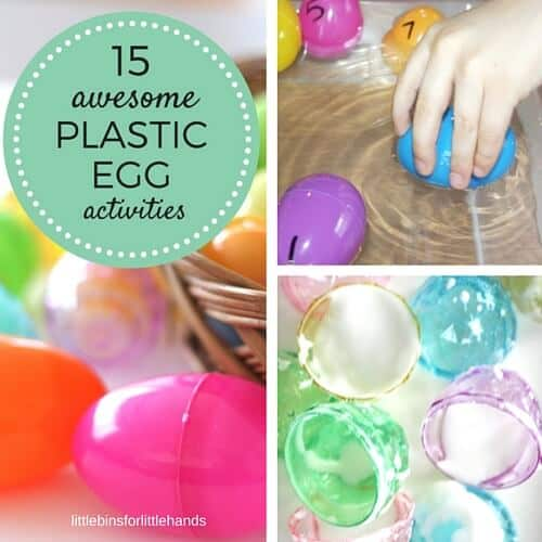 plastic egg activities for Easter learning activities