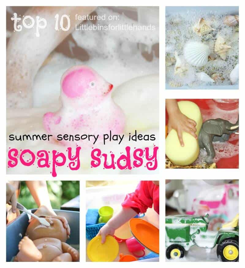 top 10 washing activities for summer sensory play