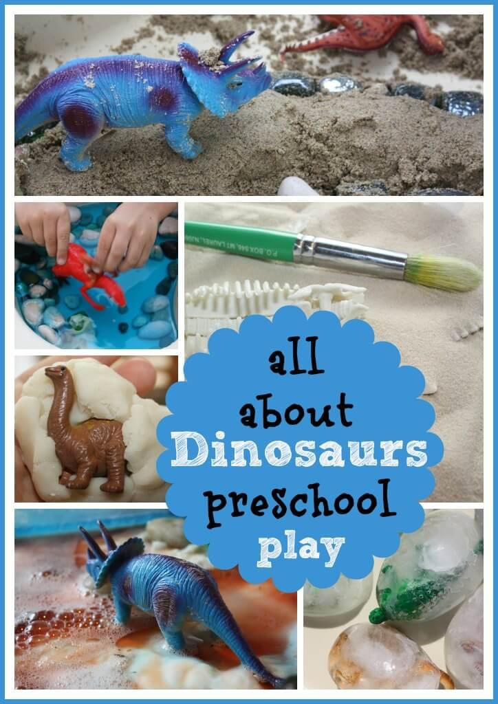 dinosaur theme preschool activities icy dinosaur excavation sensory play bins for 114