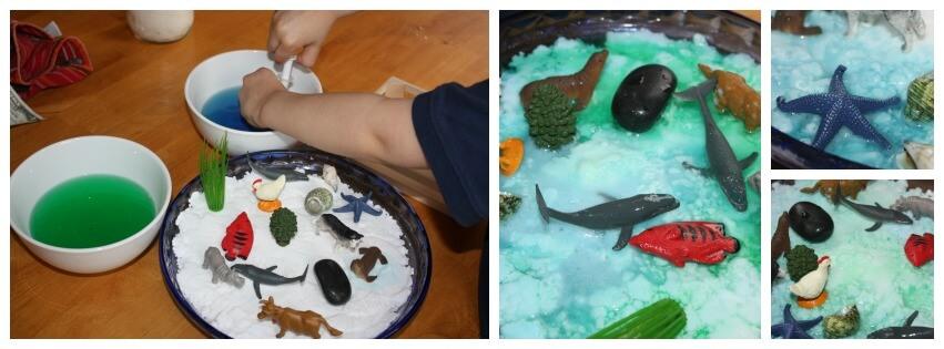 Earth Day Baking Soda Activity Play