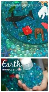 Earth Sensory Bin Earth Day Activity