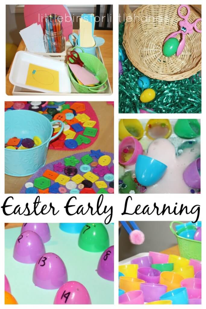 Easter Early Learning Activities Science Math Letter Fine Motor Color Play Ideas
