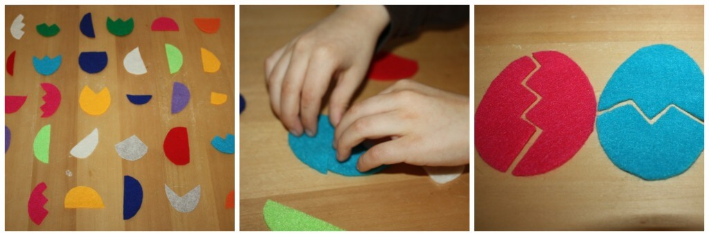 Easter Felt Math Games Egg Puzzles